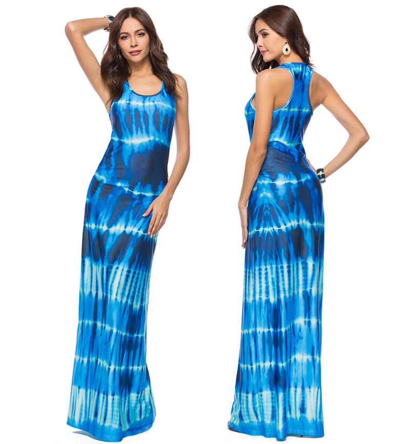 Elegant Boho Floor Length Bodycon Beach Maxi Dress