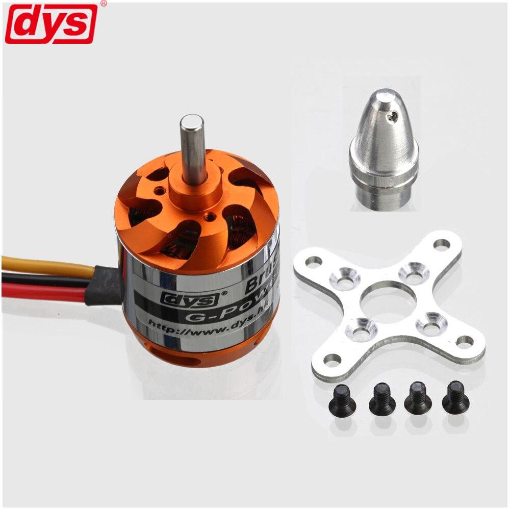 Dys d2836 750kv 880kv 1120kv 1500kv 2-4 s motor sem escova do outtrunner para rc multicopter
