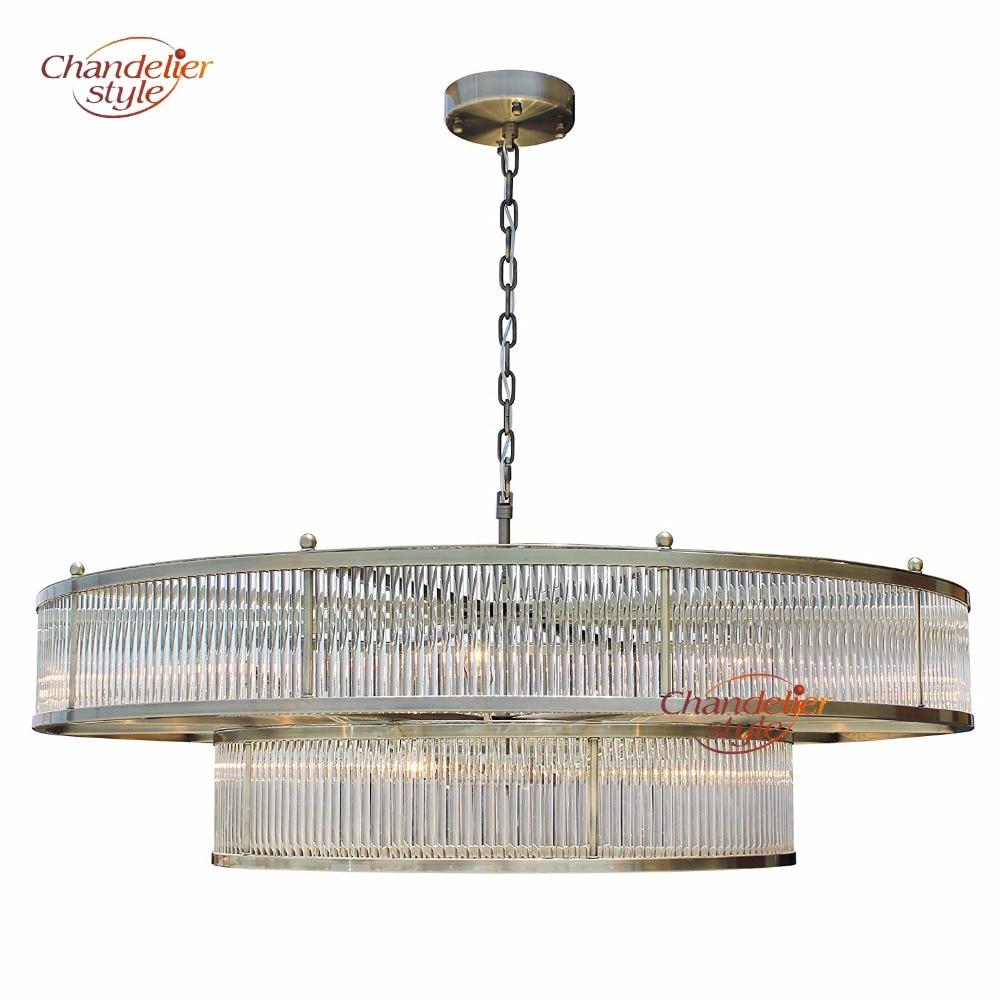 Lustre en verre moderne de tige allumant la conception intérieure LED lustres en verre accrochant la lumière pour la décoration de Restaurant d'hôtel à la maison