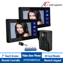 Home Secure 7 Monitor Wired Doorbell font b Camera b font Intercom Outdoor System With 2