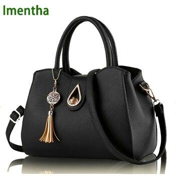 2017 fashion black  leather bags Women handbag Women Bag Female Women Shoulder Bags Female Bag for Girls Summer leather handbag