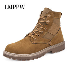 Купить с кэшбэком Brand Men Tactical Military Army Boots High Quality Breathable Men Outdoor Desert Boots Non-slip High Top Casual Men Shoes 2A