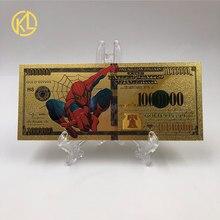 Подарочные идеи для детей 1000000 долларов США Красочные золотые банкноты Позолоченные банкноты американские банкноты оригинальный размер