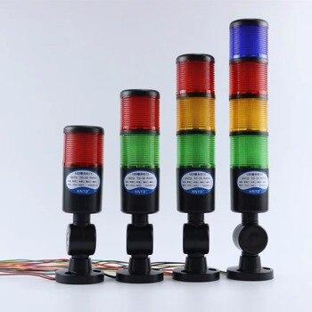 Черный корпус, 24 В, промышленный сигнальный башенный безопасный светильник, светодиодный многослойный складной звуковой сигнал, предупреж...