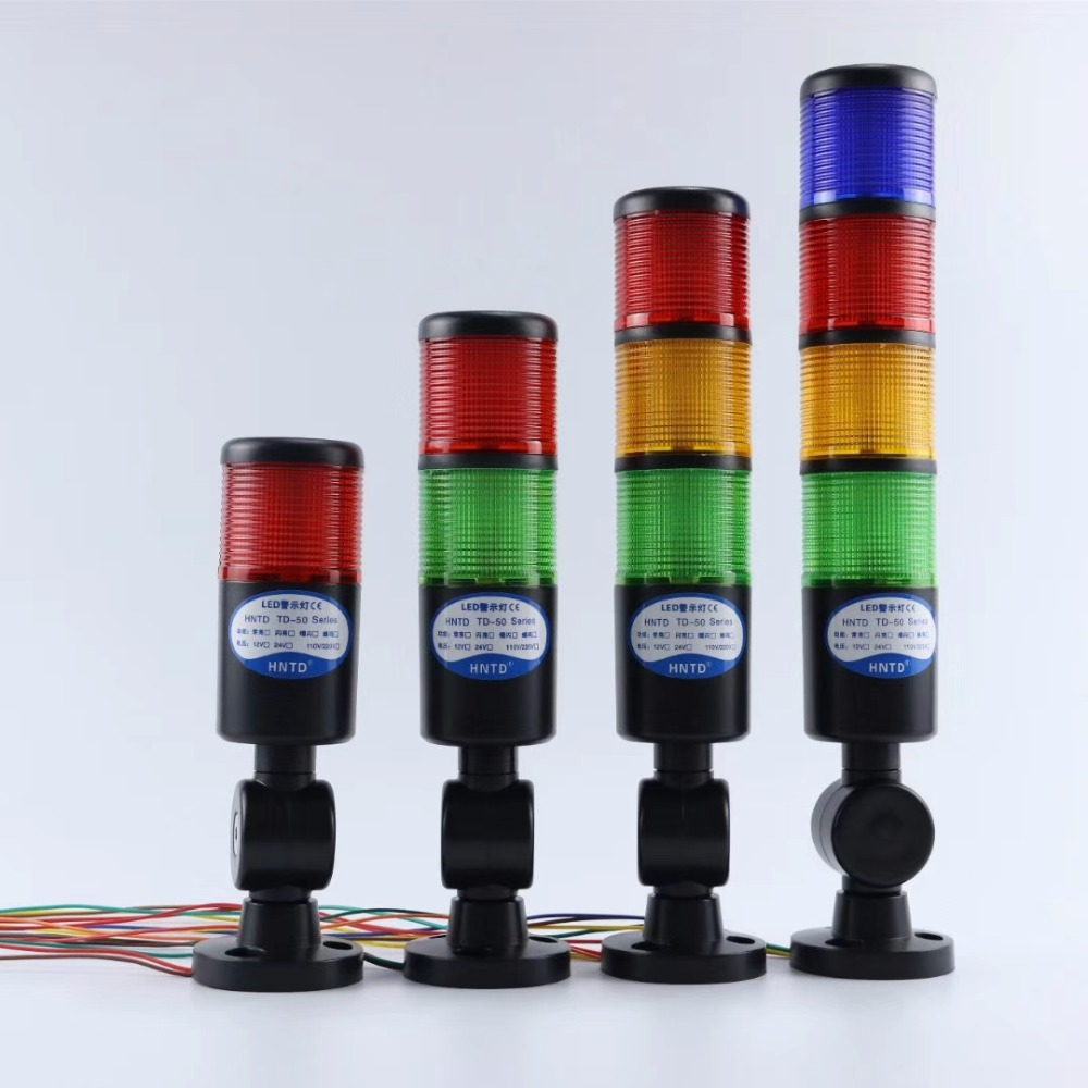 Black Shell 24V Industrial Signal Tower Safety Stack Alarm Light Led Multilayer Foldable Buzzer Caution Warning Lamp ForMachine