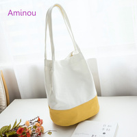 Aminou New Canvas Vintage Women Shoulder Bag Ladies Designer Casual Tote Handbags High Quality School Bags