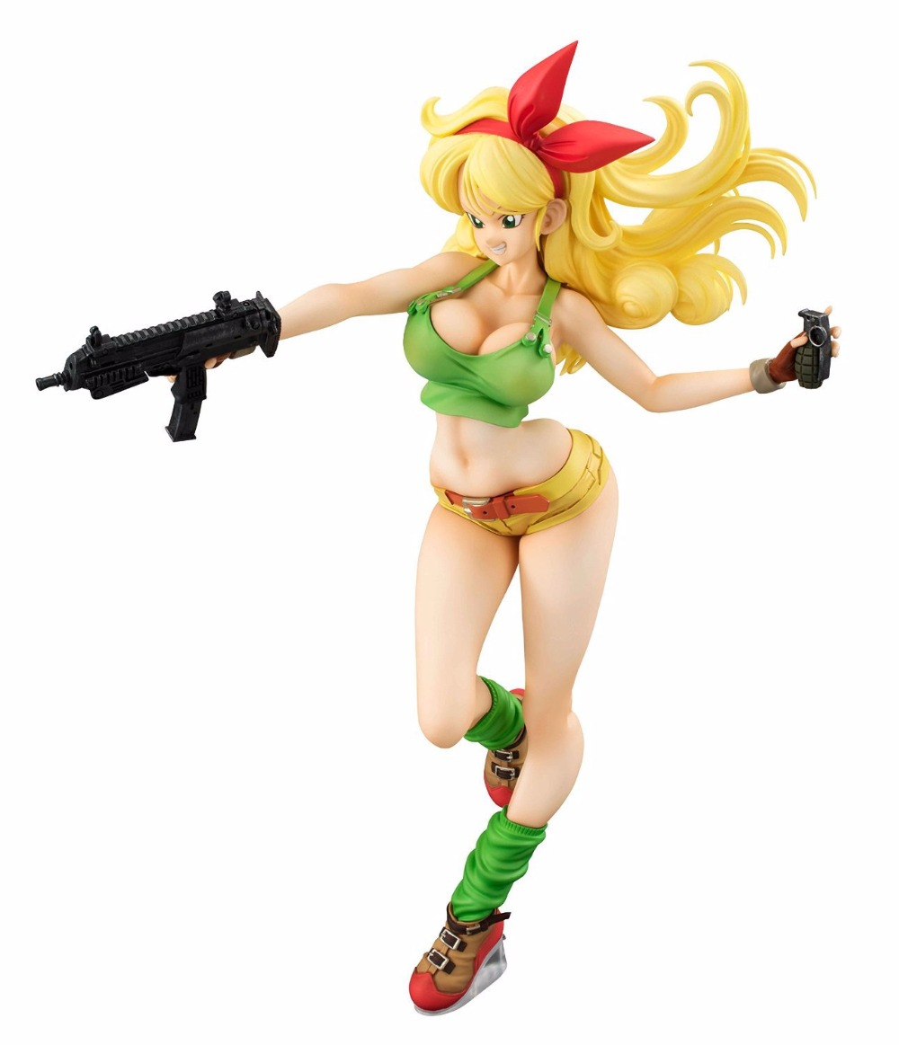 19cm Dragon Ball Z Lunchi yellow Sexy Anime Action Figure PVC New Collection figures toys Collection for Christmas gift 12cm one piece silvers rayleigh anime action figure pvc new collection figures toys collection for christmas gift with box