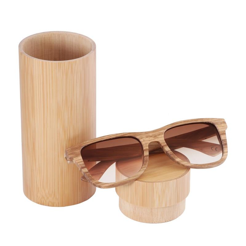 BerWer 100% Real Zebra Wood Wood Sunglasses New Polarized Handmade - Հագուստի պարագաներ - Լուսանկար 6