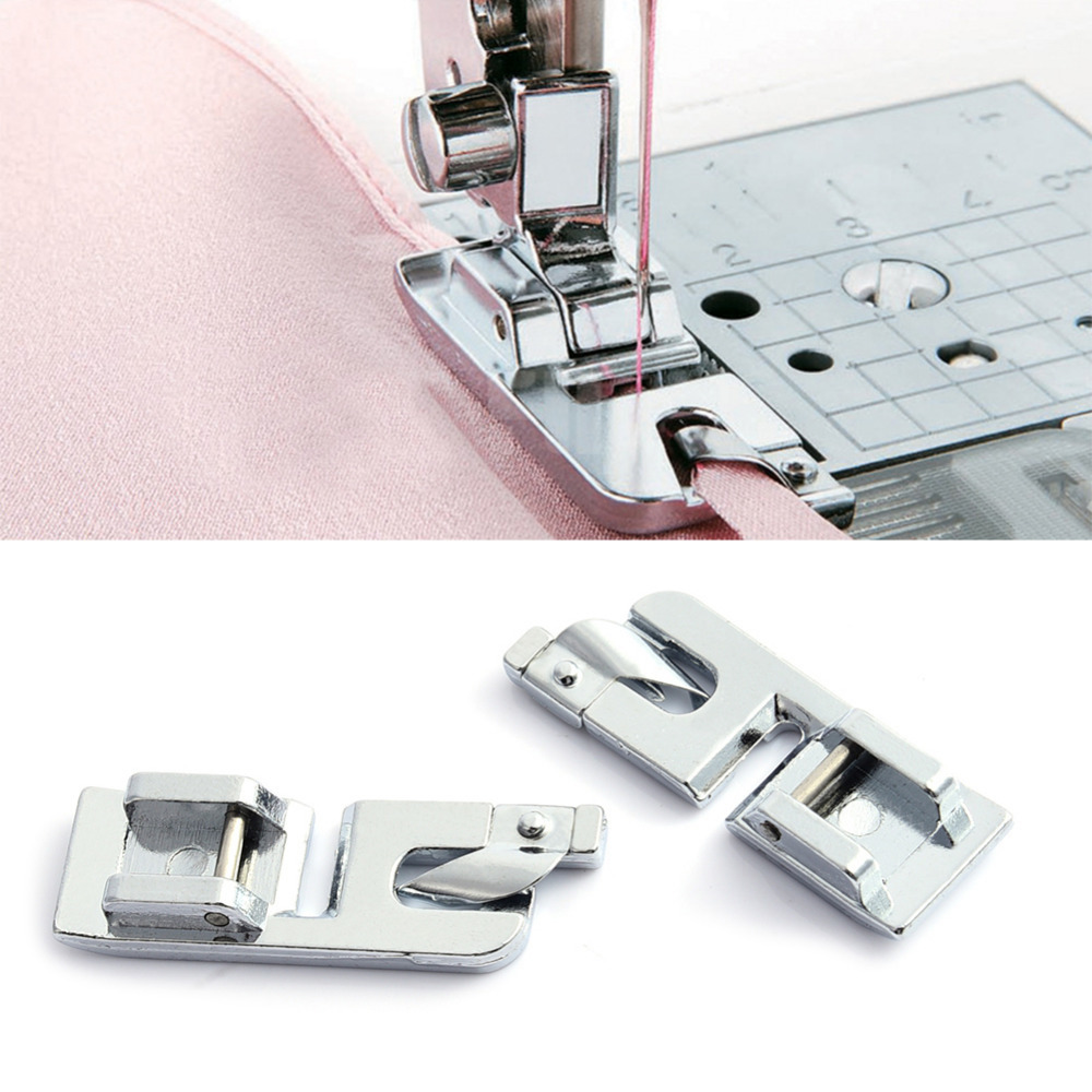 """Wide ROLLED HEM 3//4/"""" Hemmer Foot For Domestic Sewing Machines Screw on Presser"""