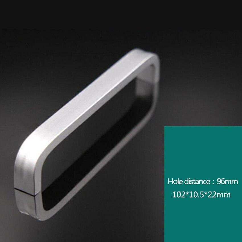 Дверные ручки простые выдвижные ящики для шкафа кухонные ручки и ручки для мебели ручки и ручки - Цвет: 96mm