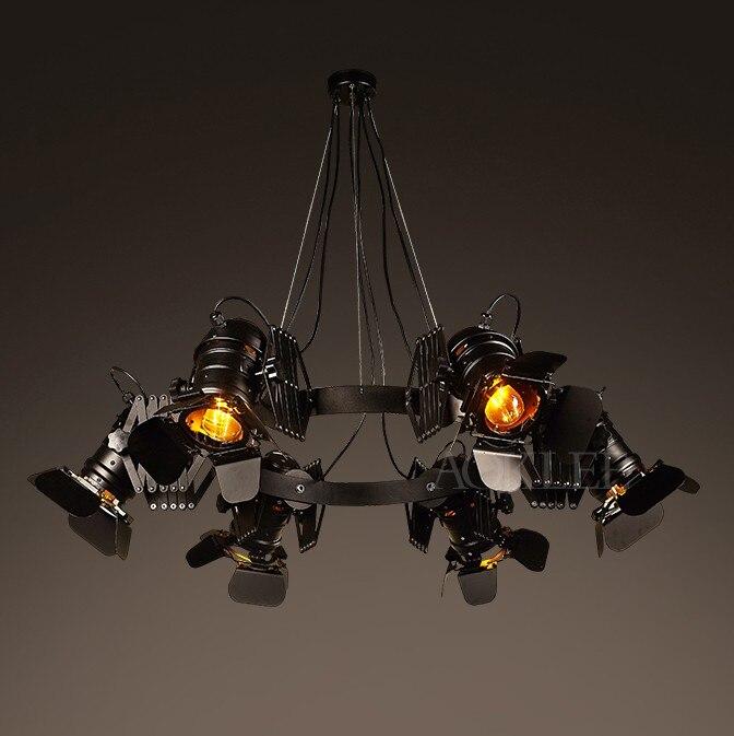 Vintage loft industriale lampadario creativo retro bar ristorante cafe Ferro telescopico faretti negozio di abbigliamento infissi