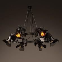 Vintage loft industrial lámpara creativa retro bar restaurante café hierro telescópica focos tienda de ropa Accesorios
