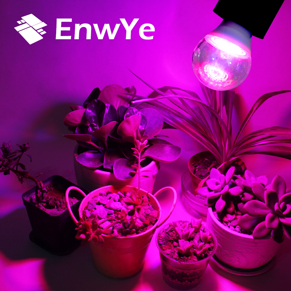 EnwYe Waterproof Grow Light E27 110V 220V 3W 80 LED Full Spectrum Indoor Plant Lamp For Plants Vegs Hydroponic System Plant
