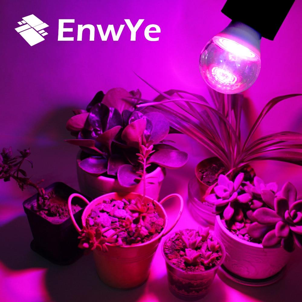 EnwYe Waterproof Grow Light E27 110V 220V 3W 80 LED Full Spectrum Indoor Plant Lamp For Plants Vegs Hydroponic System Plant