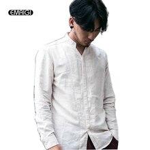 Men Cotton Linen Casual Shirts Man Sim Fit Brand Long sleeve Shirts Men Fashion V-neck Chinese Style Punk Shirts Q316