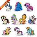 100pcs/lot My little Ponies Lovely cartoon decoration Pins badges brooches collection DIY charms fit Clothes Bags shoes