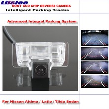 Liislee Intelligent Parking Tracks Car Rear Camera For Nissan Altima / Latio / Maxima Backup Reverse / NTSC RCA AUX HD SONY все цены