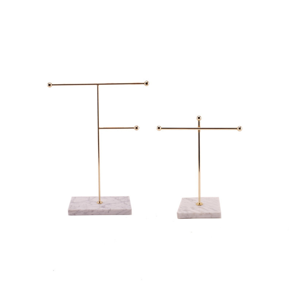 Image 5 - Nordic Metal Golden Storage Rack with Marble Base Chic Ins Modern