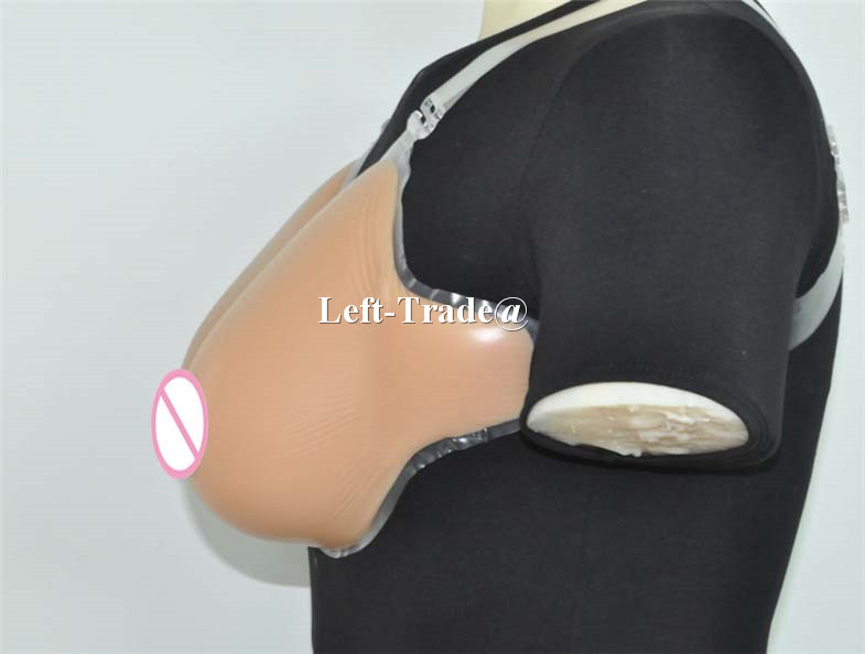 ФОТО 600g Cup B  suntan realistic silicon breast forms fake boobs for man crossdressing