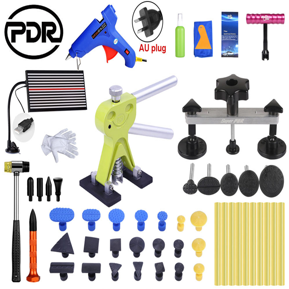 PDR Car Body Dent Lifter Puller 10pcs Glue Sticker Dent Repair Hail PDR Removal Tool LED Line Board Rubber Hammer PDR Car Body Dent Lifter Puller 10pcs Glue Sticker Dent Repair Hail PDR Removal Tool LED Line Board Rubber Hammer