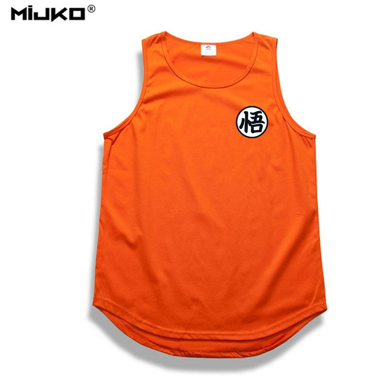 Hip hop dragon ball tank top 2017 summer bodybuilding man's t-shirt tops cosplay 3d t shirts casual cotton dragon ball z clothes-0