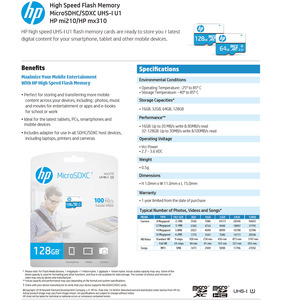 Image 5 - Original HP Memory Card 16gb 32gb 64gb 128gb Wholesale Dropshipping Price microSDHC/SDXC TF Card cartao de memoria Free Shipping