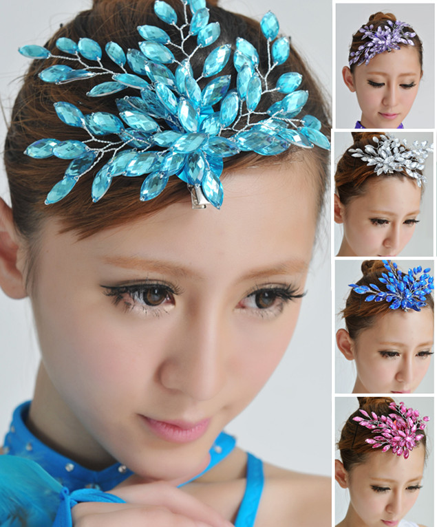 2016 Hot Sales! Girls Latin Dance   Headwear  ,Women Latin Ballroom Dance Hair Accessories,Dance Wear Accessories 5