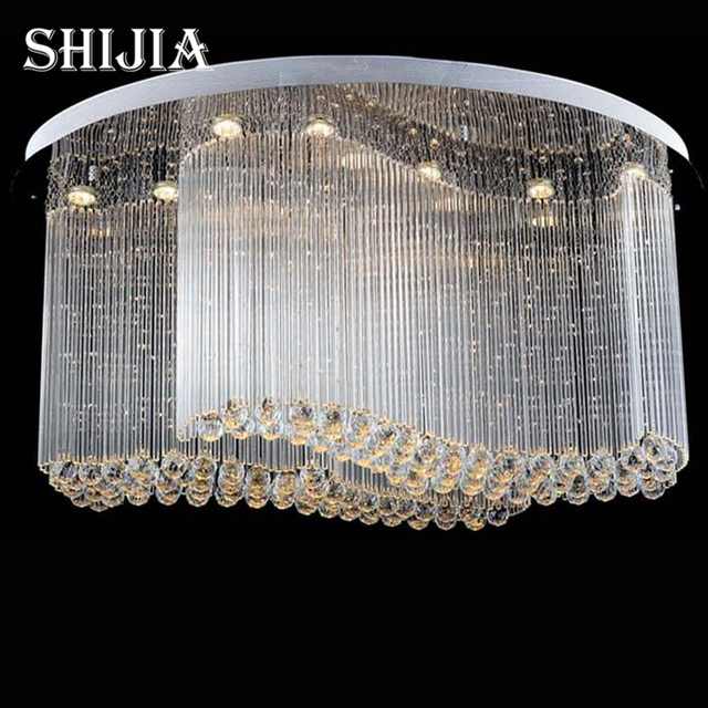 Flush Chandelier Free shipping new modern oval crystal chandelier luxury chandelier free shipping new modern oval crystal chandelier luxury chandelier cristal lamp flush led light for home audiocablefo