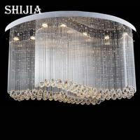 Free Shipping New Modern Oval Crystal Chandelier Luxury Chandelier Cristal Lamp Flush LED Light For Home
