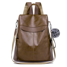 backpacks 2018 Leisure backpack women Fashion female Mini Schoolbag lady Solid Color leather Bookbag Vintage Casual