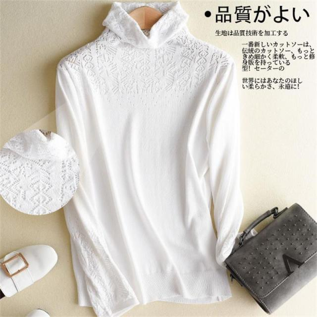Women Knitted Sweaters Pullovers Turtleneck Long Sleeve Solid Color   Sweater Women