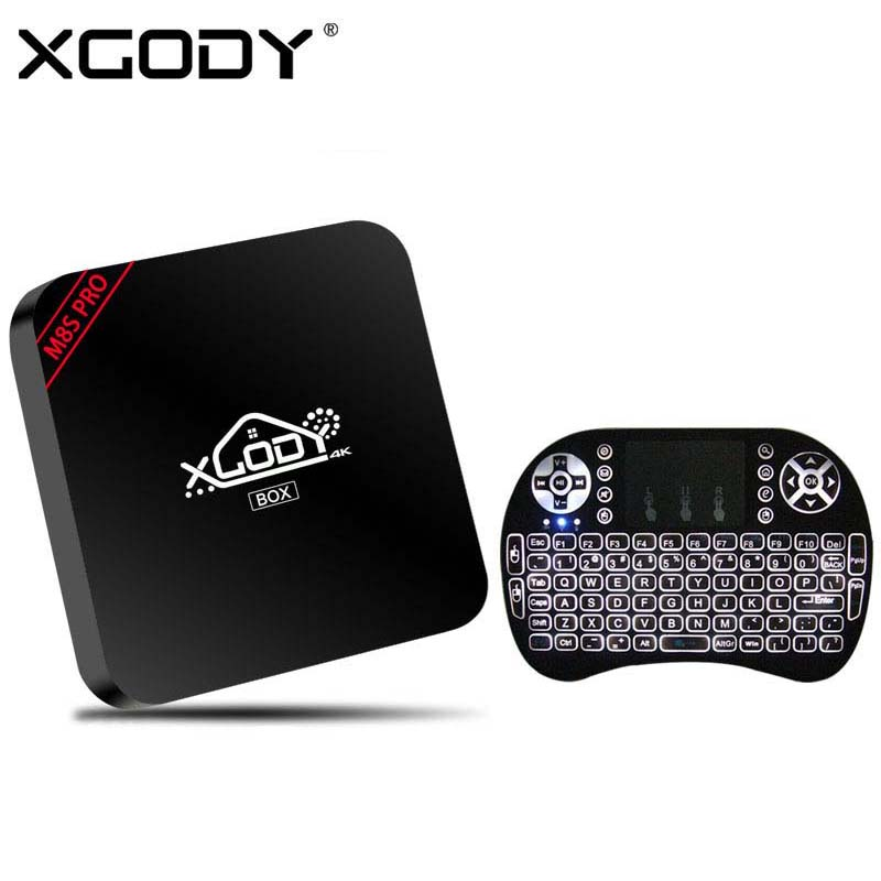 Xgody mini m8s pro tv box android 5.1 rk3229 quad core wifi HD 4 K Kodi 16.1 Med