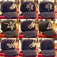 2018 New seasons diamond pattern Korean female hat MMJ hip hop cap baseball cap tide hat 487