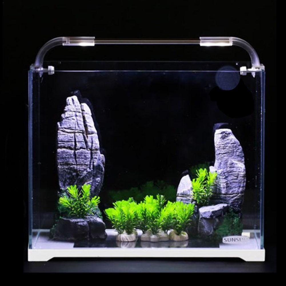 Aquarium Aquarium verre Ultra-blanc petit réservoir nu eau herbe cylindre salon eco-cylindre taille moyenne bureau Aquarium - 3