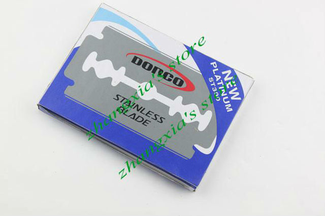 Good Quality 100 pcs Per Pack Dorco Platinum ST300 Stainless Steel Double Edge Blade Safety Razor Blade,Free Shipping LZN0018 1