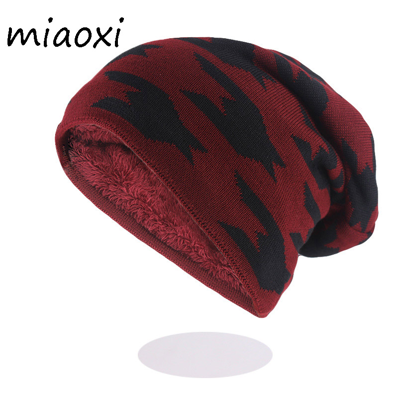 New Fashion Men Winter Warm Hat Caps For Male Wool Brand Outdoor   Beanies     Skullies   Soft Cotton Knitted Hats