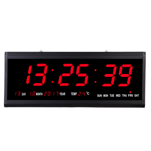 US $39.99 |Big Number Electronic wall clock digital Desk Table LED wall  clock modern design horloge murale kitchen wall watch home decor -in Wall  ...
