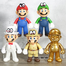 Super Mario Luigi Odyssey Cappy Ouro Mario 30th Anniversary PVC Action Figure Collectible Modelo Toy(China)