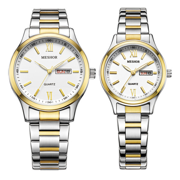 (MESHOR) fashion leisure steel watch with a quartz couples MS.5019M.36.126 / MS.5019L.36.126