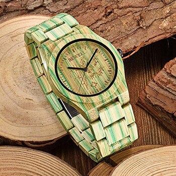 BEWELL Top Brands of Luxury Watches Rainbow Bamboo Wood Watch Women Fashion Wristwatch Female Bracelet relogio feminino 105DL