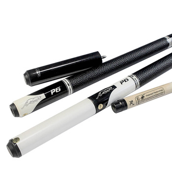 New Arrival P6 Pool Cue Stick with Extension 13mm 11.5mm Tips Black/White Color Billiard Cue Pool Made In China