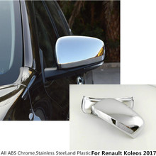 ABS chrome styling Car stick rear view Rearview Side glass Mirror Cover trim frame 2pcs/set For Renault Koleos 2017 2018 2019