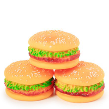 New Rubber Pet Toys Hamburger Style Dog Imitation Bruxism Sound Toy Suppies Best Selling Supplies Accessories