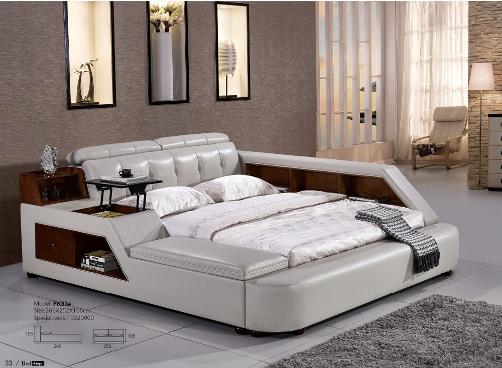 Stylish Modern Leather Bed Designs Bedroom Sets Aliexpress