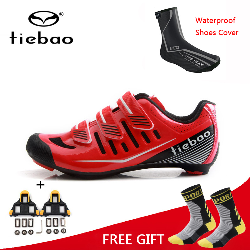 Tiebao Professional Cycling Shoes Ultralight Road MTB Bike Shoes Self Lock Racing Athletic Bicycle Shoes Zapatillas