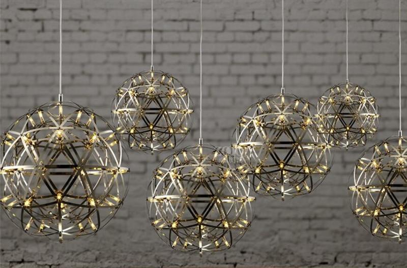 Moda nero ferro lampadari e lampade a sospensione a soffitto luci