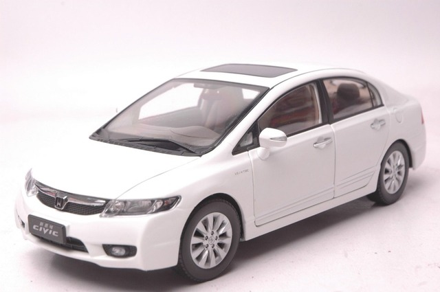 1 18 Cast Model For Honda Civic 8 2008 White Alloy Toy Car Collection 8th Generation
