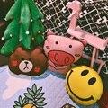 Прекрасный Мультфильм Свинья Медведь Улыбка Лицо Подушки Детская Кровать украшения Спокойный Сон Фото Реквизит Девушки Детская Комната Декор Nordic стиль