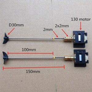 Image 3 - Double moteurs RC ensemble dentraînement de bateau 130 moteur + siège de moteur + accouplement en cuivre + arbre de 15CM + Kit dhélices pour bricolage