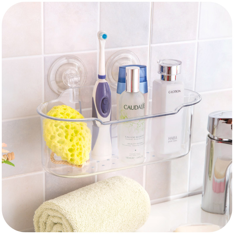 Bathroom Amenities Draining Rack Storage Racks, Kitchen Debris Powerful Suction Seamless Glove
